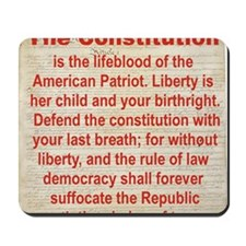 2-THE CONSTITUTION Mousepad