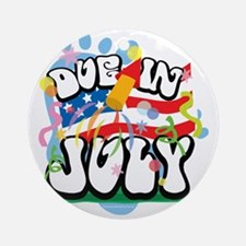 Due-in-July Round Ornament