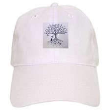 Boston Terrier love tree hearts Baseball Baseball Cap