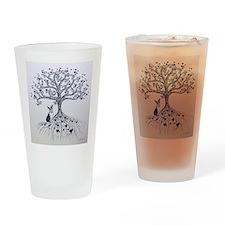 Boston Terrier love tree hearts Drinking Glass