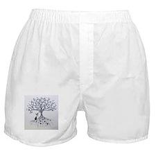 Boston Terrier love tree hearts Boxer Shorts