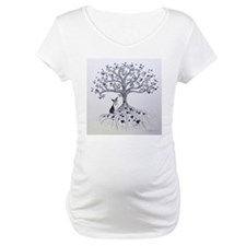 Boston Terrier love tree hearts Shirt
