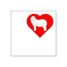 "Sheepdog-Dark Square Sticker 3"" x 3"""