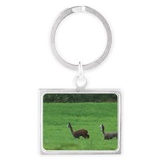 alpacas Landscape Keychain