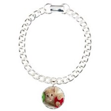 Yarn Kitty mousepad Charm Bracelet, One Charm