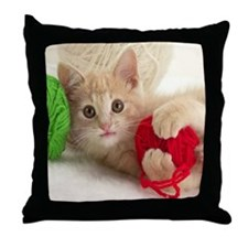 Yarn Kitty mousepad Throw Pillow