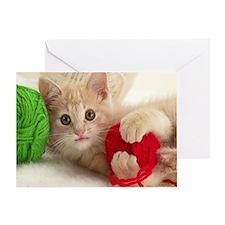 Yarn Kitty mousepad Greeting Card