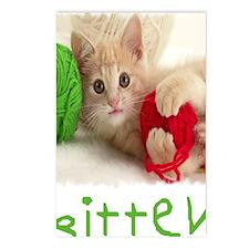 Yarn Kitty bib Postcards (Package of 8)