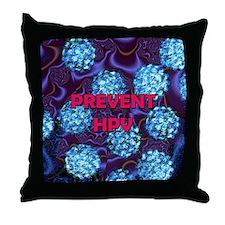 Prevent HPV 5 mp copy copy Throw Pillow
