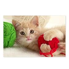Yarn Kitty lg fr print Postcards (Package of 8)