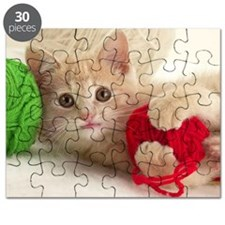 Yarn Kitty lg fr print Puzzle