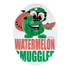 Watermelon-Smuggler Oval Ornament