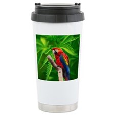 scarlet macaw peace love c Travel Mug