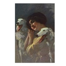 Lady And Borzoi Postcards (Package of 8)