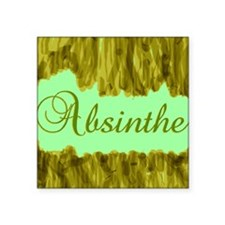 "AbsintheGButton Square Sticker 3"" x 3"""