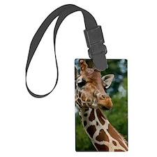 Giraffe Art Luggage Tag