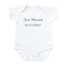 Just Married  02/11/2007 Infant Bodysuit