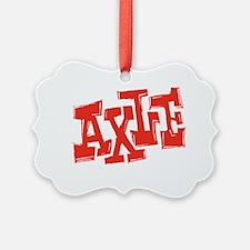 axle_BW-black_shirt_12x12 Ornament