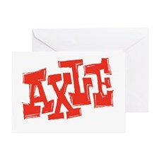 axle_BW-black_shirt_12x12 Greeting Card