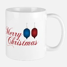 Merry Christmas with Ornaments Mugs