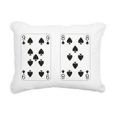 Nine Eight Spades Rectangular Canvas Pillow