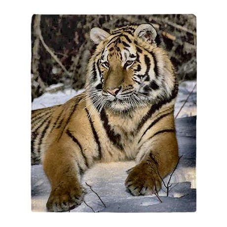 SIBERIAN TIGER ART THROW BLANKET