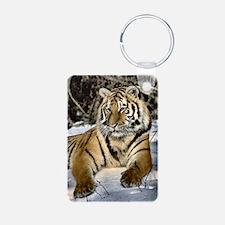 siberian tiger art Keychains