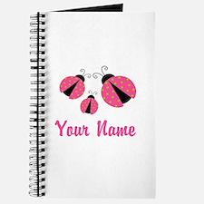 Ladybug Pink Personalized Journal