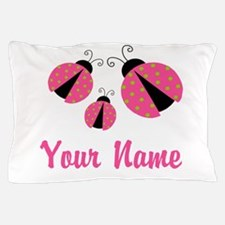 Ladybug Pink Personalized Pillow Case