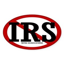 """NO"" IRS Oval Decal"