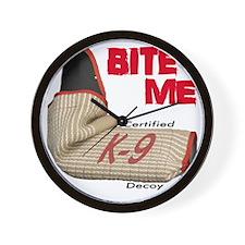 BITE ME - Certified K9 Decoy (light) Wall Clock
