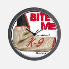 BITE ME - Certified K9 Decoy (light) Wall Clock