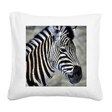 Zebra Art Square Canvas Pillow