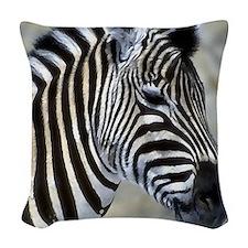 Zebra Art Woven Throw Pillow