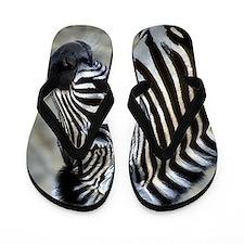 Zebra Art Flip Flops