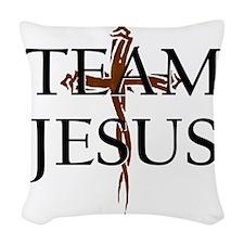 TeamJesus Woven Throw Pillow