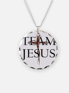 TeamJesus Necklace Circle Charm