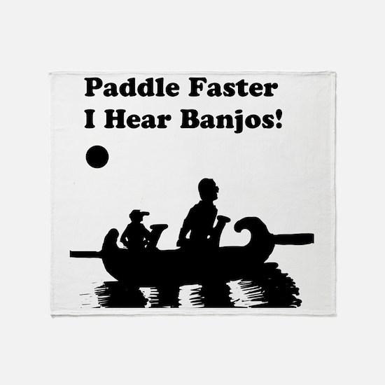 I hear banjos Throw Blanket