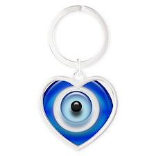 Evil Eye Dark2 copy Heart Keychain