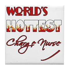 World's Hottest Charge Nurse Tile Coaster