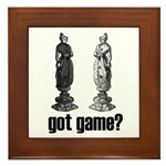 Chess Game Framed Tile