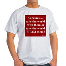 Vaccines Ash Grey T-Shirt (printed front & back)