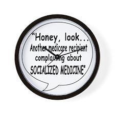 Socialized Medicine Wall Clock