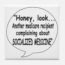 Socialized Medicine Tile Coaster