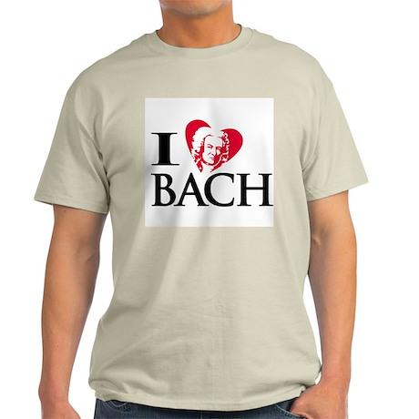I Love Bach Ash Grey T-Shirt