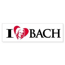 I Love Bach Bumper Bumper Sticker