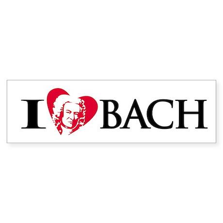 I Love Bach Bumper Sticker