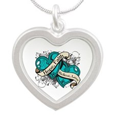 PTSD Hope Hearts Silver Heart Necklace