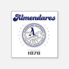"""AlmendaresL1_Light Square Sticker 3"""" x 3"""""""