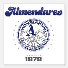 "AlmendaresL1_Light Square Car Magnet 3"" x 3"""